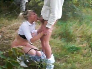 Inferior prepare oneself having sex outdoor