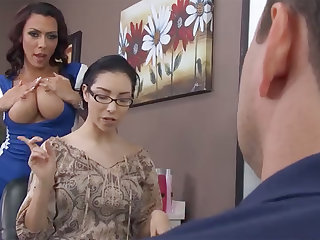 Sexy hairdresser fucks bitch's husband in barbershop