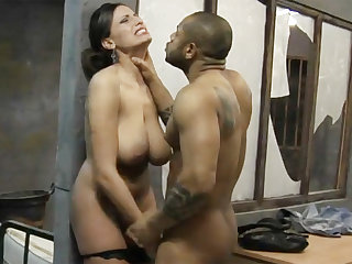 Big-dicked black prisoner fucks a kinky vapid lawyer