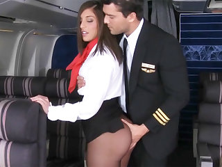 Pilot seduced cleaning woman to fuck in airplane