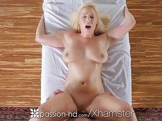 PASSION-HD Busty tow-headed Kylie Page oiled massage and fucked
