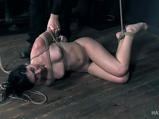 Keira Croft gets an eye rolling supreme moment while getting ill-treated near bondage