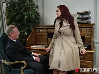 Alessandra Jane and Emma are having a 3some adjacent to their office, as contrasted with of doing their job