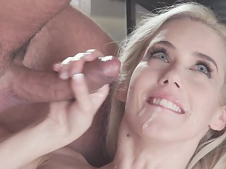 Blue eyed Nesty treats cock with lust together with passion