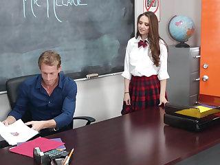 Schoolgirl's customization punishment