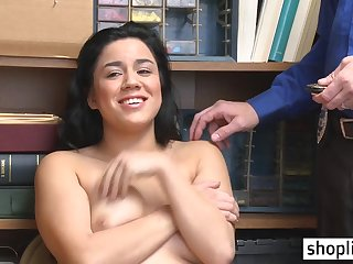 Big juggs darkhaired 18yo schoolgirl done away from a debauched policeman