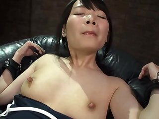 Half-naked Japanese hottie mill hard to please her man
