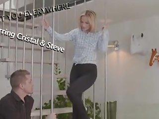 Danejones Gorgeous Shaved Blonde Fucks On Staircase