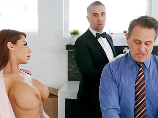 Horny butler is be asymptotic to anal fuck housewife