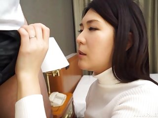 Japanese subfuscous MILF Ikegami Mahiro fucked by a distance from at a inn