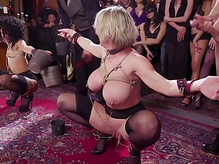 Wild busty whore Dee Williams is ready be proper of bondage and brutal fuck