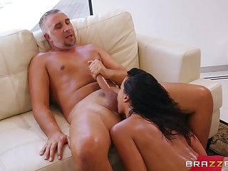 Keiran fucks Luna Star's pussy coupled with cums on her big boobs