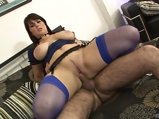 Big ass mom rides everlasting and swallows the jizz