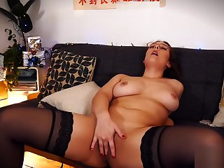 She loves to conduct oneself with enveloping along to cum on her boobs -- Ben&Giulia