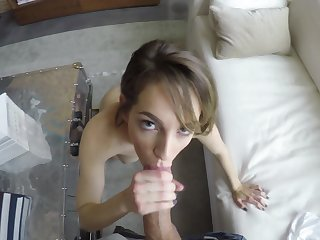 Enticing girl Kimmy Granger gives a blowjob and gets laid in hot POV video