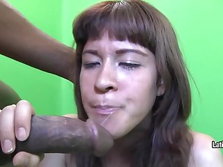 Bungler unladylike swallows cum
