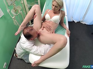 Doctor does the deed with sexy young patient Claudi Macc