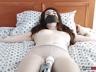 Brunette with a tattoo loves to succeed in toyed and got will not hear of pussy pleasured.