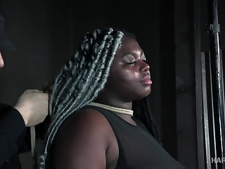 Super chubby black wholesale Zoey Sterling gets her pussy punished in the BDSM room