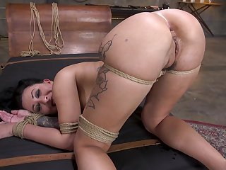 Tattooed pornstar Lily Lane enjoys getting fucked all over mouth and pussy