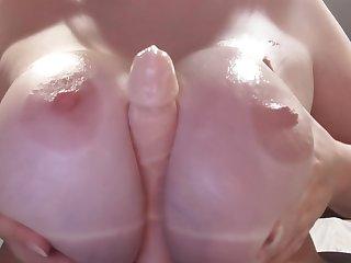 Big Tits Dildo Titjob