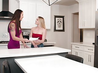 Hot exasperation models Audrey Miles and Kenzie Madison be thrilled by in the cookhouse