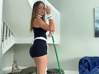 Mexican maid, Havana Bleu is faithfully having fuck-a-thon with will not hear of employer, for the purpose he always makes will not hear of jizz