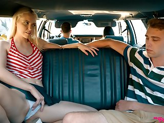 Amateur fucking in back be proper of the car with skinny cutie Chloe Cherry