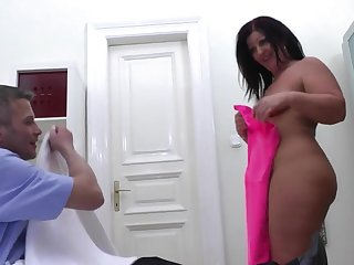 Small tits mature slut opens her legs to ride a rock hard dig up