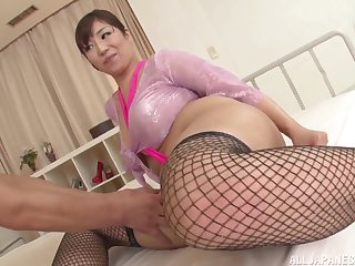 Sucking a delicious cock pleases this horny Japanese woman the most