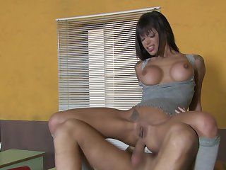 Lay bare well-endowed Latina suits her anal hole with a big dick