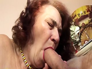 ugly grandma fucked off out of one's mind her hairdresser